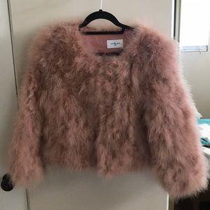 Feather fur coat